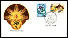 1982 75th anniversary scouting to Boy Scout cachet Cocos Islands