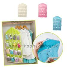 16 Pockets Door Home Tidy Socks Wall Hanging Organizer Storage Bags Pouch Hoder