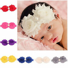 Pretty Flower Baby Girl Kids Floral Bead HairBand Turban Knot Hot Headband Decor