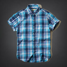 Hollister by Abercrombie and Fitch! New Mens Blue White Plaid Shirt-MED-XLG