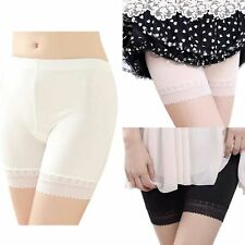 Womens Summer Lace Stretch Safety Under Shorts Underwear Leggings Hot Pants