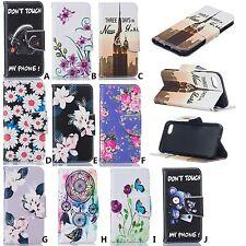 Pattern PU Leather Case Card Slot Wallet Case Cover For iPhone 5 6s plus 7 plus
