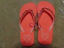 aeropostale kids ps girls' gemstone flip flops RADIANT CORAL