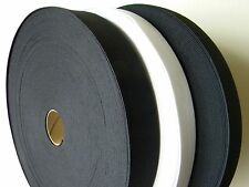 1 Roll Knitted Elastic Black/White Size:  3 inch wide 50 Yards New~knit Elastic