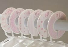 Pink Rose #c102 girl Baby Closet Dividers Clothes Organizers 6