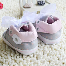 Toddler Baby Girl Gray Crib Shoes Soft Sole Casual SHOE 0-6 6-12 12-18Months Hot