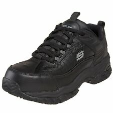 Skechers SOFT STRIDE Mens Leather Slip Resistant Steel Toe Work Shoes