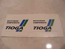 Tioga Motocross Components Decals Stickers Old School BMX Seat Post Handlebars