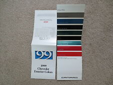 1999 CAMARO SS CHEVROLET FACTORY COLOR CHIP SAMPLE CHART BROCHURE