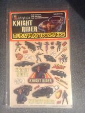 KNIGHT RIDER RUB N PLAY TRANSFERS 1982 SEALED IN PACKAGE COLORFORMS