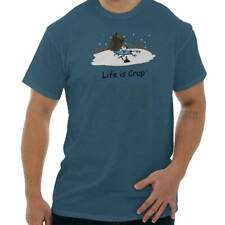 Life Is Crap Ice Fishing Good Life Funny Shirts Gift Ideas T-Shirt Tee