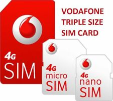 4G NEW LYCA Lebara O2 VODAFONE 3 NETWORK EE MOBILE PAYG Trio SIM CARD TOP UP lot