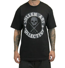SULLEN All Day Badge Mens T -shirt  Streetwear Tattoo Art Urban Punk New Black