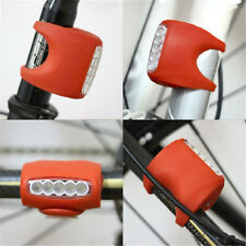 Cycling Bike Bicycle Silicone 7 LED Frog Front Head Light Rear Warning Lamp Red