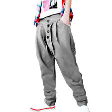 Mens Trendy Solid Casual Harem Pants Hip-hop Baggy Trousers