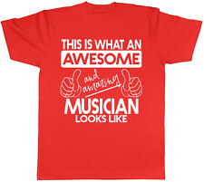 This is what an Awesome & Amazing Musician Looks Like Mens Short Sleeve T-Shirt