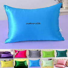 1pc 16 Momme 100% Pure Mulberry Silk Pillow Cases Cushion Covers Zipper Closure