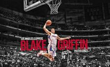 Blake Griffin Basketball Star Art Print poster (28x18inch)Decor 16