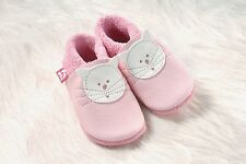 Pololo Soft Baby Leather Shoe Kitty pink