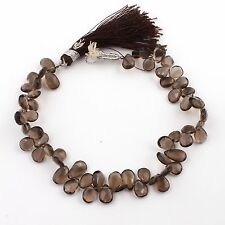 1 Strand smokey Quartz Faceted Pear Drop Beads Briolettes 8mm-12mm 9inch PB330