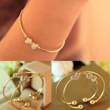 Rhinestone Crystal Single Bracelet For Ladies Jewelry Gold Plated Bangles