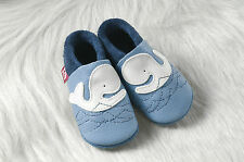 Pololo Soft Baby Leather Shoe Moby the Whale