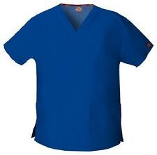 Dickies Scrubs V Neck Scrub Top Dickies EDS 86706 Signature Galaxy Blue
