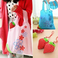Fashion Foldable Shopping Tote Bags Eco Handbag Strawberry Reusable Bag