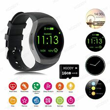 Waterproof KW18 Bluetooth Smart Watch16GB SIM Phone Mate For Android Samsung+UK