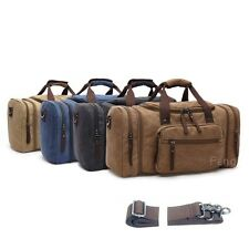 Hot Sale Leather Canvas Duffle Weekend Overnight Travel Bag Holdall Luggage