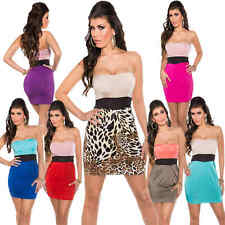 Women Sexy Sleeveless Cocktail Dress Mink Suffering Party Bandeau 34 36