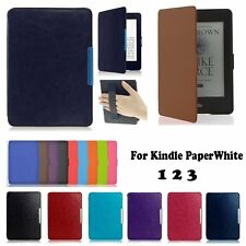 Smart Magnetic Wake /Sleep Leather Case Cover For Amazon Kindle Paperwhite 123