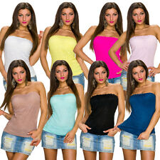 Sexy Women'S Bandeau Top Shirt strapless Lace Party Club Fashion Summer S 32 34