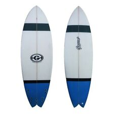 Green Surfboard Fish Blue Grey Black Trad fish modern features includes FCS fins