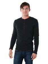 NWT AUTHENTIC JACK SPADE MEN'S GILFORD CHARCOAL HENLEY L, XL RETAIL $98