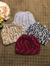 Hand Crochet Messy Bun / Ponytail Hat Beanie - Made to Order! NEW!