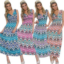 Ladies Maxi Dress lang Summer Party Club One Size Fits All S 34 36 38