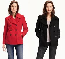 OLD NAVY Womens Wool Blend Peacoat Pea Coat Winter Jacket XS,S NEW NWT
