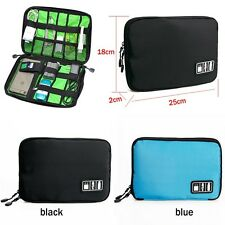 Portable Travel Cable USB Drive Organizer Bags Insert Case Electronic Accessory