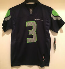 Seattle SEAHAWKS Russell Wilson #3 Youth Replica Blue Color Jersey -NFL Licensed
