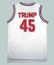 President Donald Trump 45 USA Basketball Jersey 2016 Stitched Sewn White Red