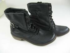 Mia Limited Edition Desert Boot Women's 6 Black Distressed Leather NEW in Box