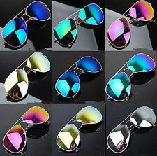 Unisex Vintage Retro Women Men Glasses Mirror Lens Sunglasses Fashion OY