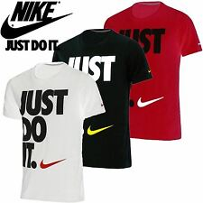 Nike Mens Plain JUST DO IT Round Neck Short Sleeve Swoosh Logo Gym T Shirt Top