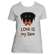Personalized Rottweiler Love Dog T-Shirt