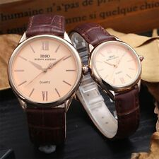 Casual Unisex Analog Quartz Leather Watch Wrist Strap Mate Watches Fashion TY