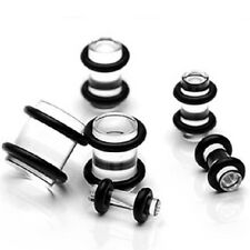 Clear/tranparent with Double Sided O-ring Gauges/plugs Retainer Acrylic (1 Pair)