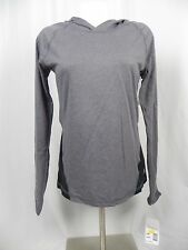 NEW Soffe 2 Tone Gray & Black Long Sleeve Pull Over Hoodie Top (S1-17)
