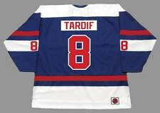 MARC TARDIF Quebec Nordiques 1974 WHA Throwback Hockey Jersey