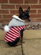 Small dog clothes warm Chihuahua coat, Christmas coat outfit jacket XS, S, L